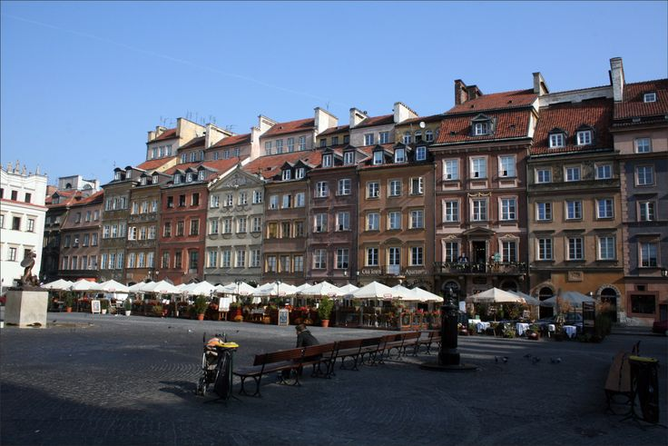 Warsaw, Poland, Old Town Market; on my next trip, summer 2012