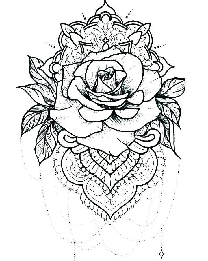 Angel Wings Coloring Page Tattoo Coloring Pages For Adults Best Coloring  Pages For Kids Rose Tattoos, Geometric Tattoo, Tattoo Coloring Book