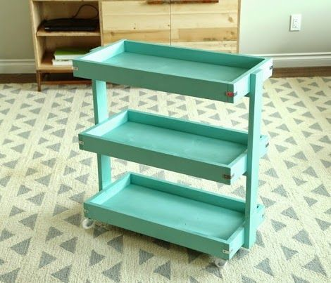 Diy rolling lumber cart woodworking projects plans for Rolling lumber cart plans