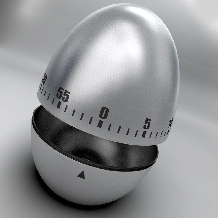 Egg Timer rigged - 3D model stock