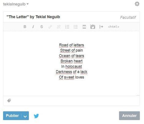 Teklal Neguib, The Letter as digital poetry on ArtStack #teklal-neguib #art
