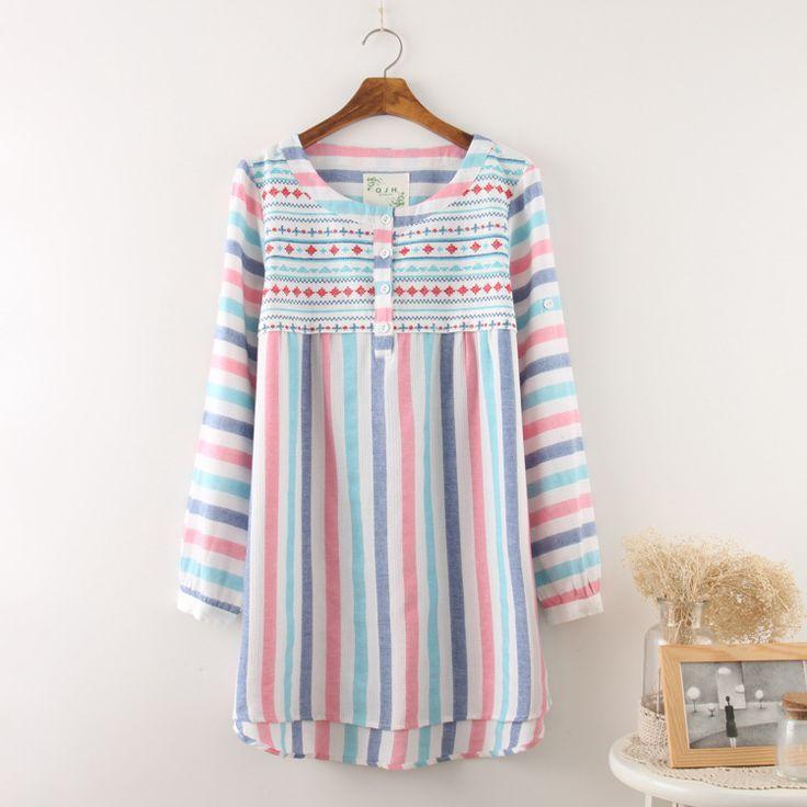 Long Cotton Shirt (B0089)    #caterpillar #barnard #lafond #bernardlafond #cottage glaze #groove #moda #shop #shopping #blouse #womenblouse #girlsblouse #shop
