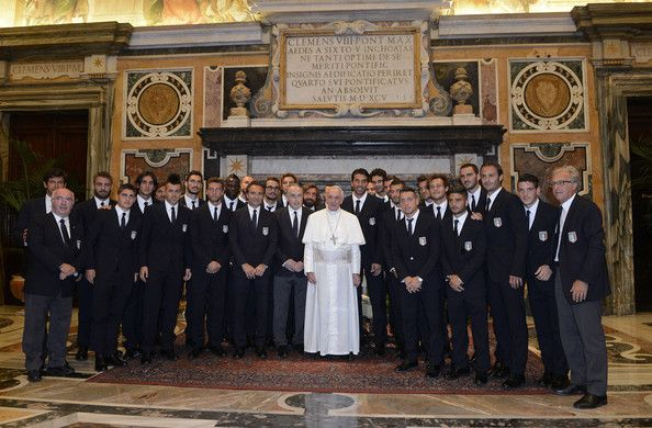 Cesare Prandelli - Pope Francis I Meets Italy and Argentina Football Teams
