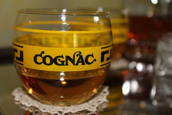 Crystal glasses 60s for cognac brandy  whisky by idealuminosa,
