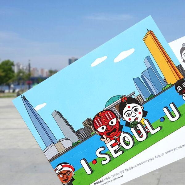 ::Korea Souvenir:: 봉산탈 한강공원 엽서 Hangang Citizen Park Postcard