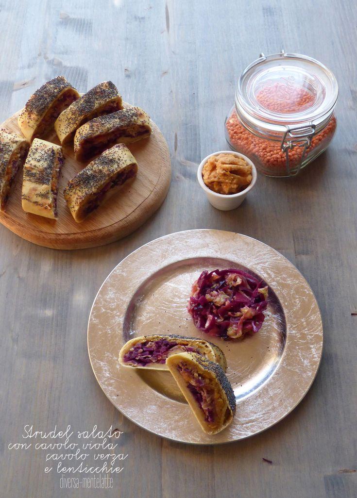 strudel salato con cavolo viola cavolo verza #senzalattosio