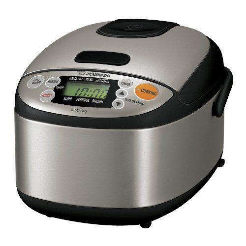 Quick and Easy Gift Ideas from the USA  Zojirushi NS-LAC05XT Micom 3-Cup Rice Cooker and Warmer, Black and Stainless Steel http://welikedthis.com/zojirushi-ns-lac05xt-micom-3-cup-rice-cooker-and-warmer-black-and-stainless-steel-2 #gifts #giftideas #welikedthisusa