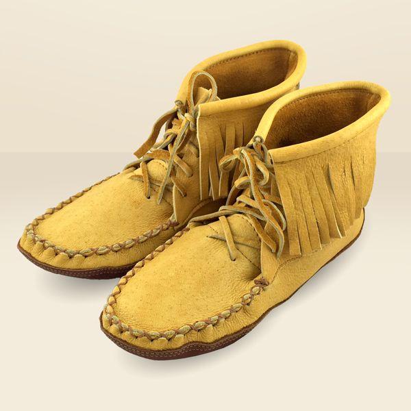 Men's Fringe Moosehide Moccasin Boots 180M