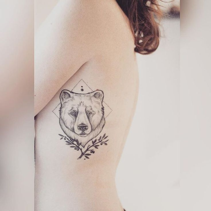 Tattoo - Bear and Olive Branch <3