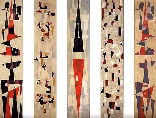 Carlos Mérida / Cinco Paneles / 1963 /