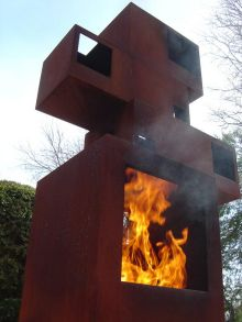 industrial outdoor fireplace - Google Search