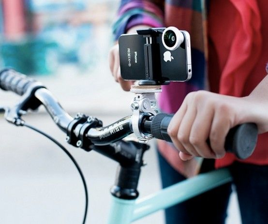 Take a cool video of your ride with this bike phone mount (Just be sure not to text or play on your phone!)