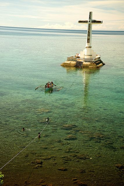 """The """"Sunken Cemetery"""" in Camiguin Island, Philippines. Nice spot for snorkeling...."""