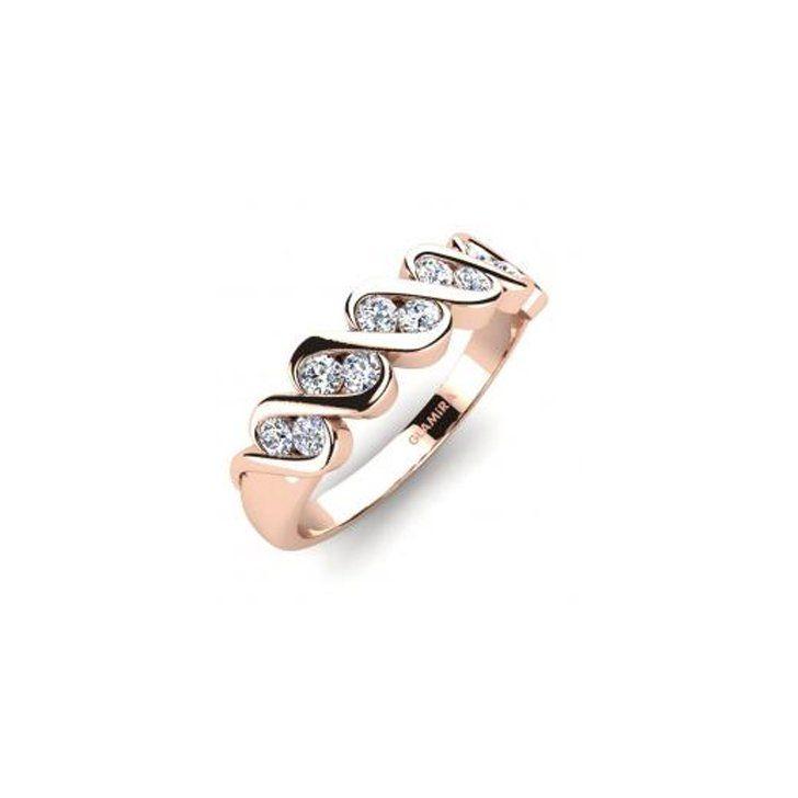 Pin for Later: Verlobungsringe aus Rotgold sind echte Multitalente  GLAMIRA Ring aus 375er Rotgold mit Swarovski Kristallen, insgesamt 0.3 Karat (269 €)