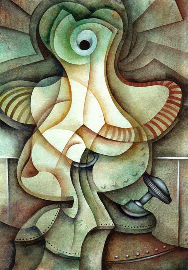 A Lamp by Eugene Ivanov #eugeneivanov #cubism #avantgarde #threedimensional #cubist #artwork #cubistartwork #abstract #geometric #association #@eugene_1_ivanov