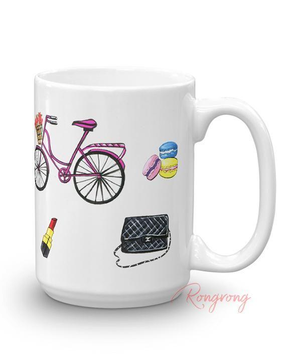 11b8f39dc79 Paris Coffee Mug Travel Mugs, The Office, Dishwasher, Coffee Mugs, Tumbler,