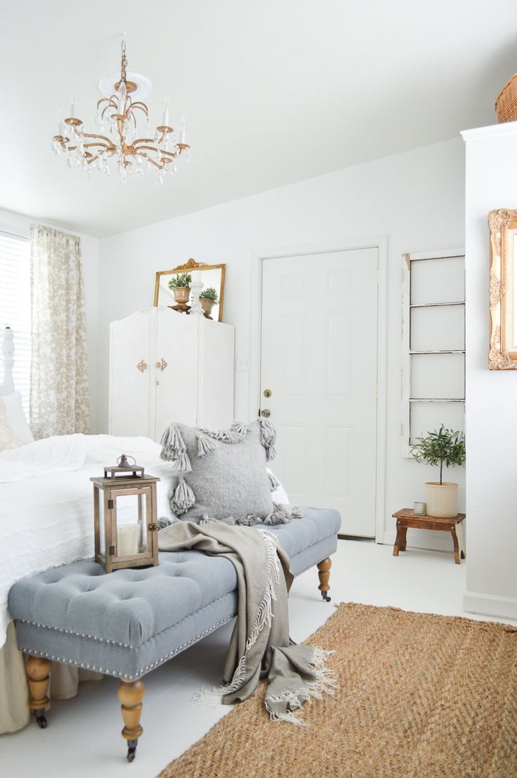 Vintage Farmhouse Guest Bedroom Makeover by Fox Hollow Cottage, with Better Homes & Gardens from Walmart at www.foxhollowcottage.com -  sponsored pin