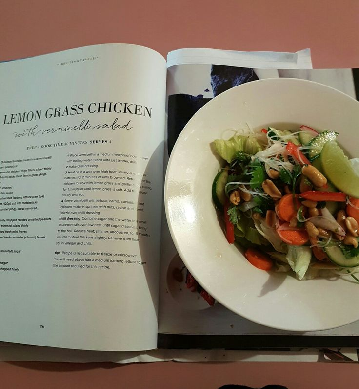 Lemongrass chicken with vermicelli salad. Page 86