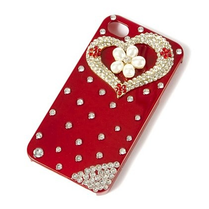 Get ready for Valentine's Day with a super-girly heart & flower Bling iPhone Cover