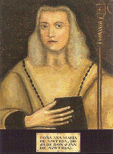 María Ana de Austria (1568-1629),que era hija ilegítima de Don Juan de Austria (hijo ilegítimo a su vez del emperador Carlos I de España), y que llegó a ser abadesa del monasterio de las Huelgas de Burgos, donde está enterrada.