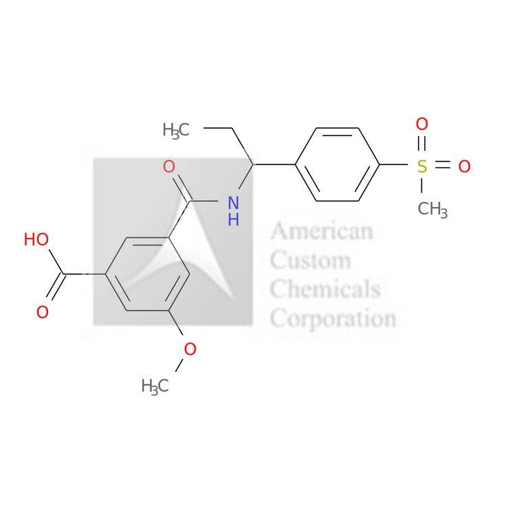 3-methoxy-5-[1-(4-methylsulfonylphenyl)propylcarbamoyl]benzoic acid is now  available at ACC Corporation