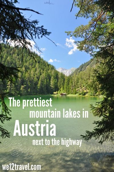 Did you know that you don't have to walk far or high to see pretty mountain lakes in Austria? Just drive to the Fernpass, get out of your car and witness the three stunning lakes that are next to the highway. You won't be disappointed!
