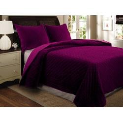 Bohemian Velvet King-size Quilt Set