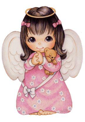 Angel with teddy bear.gif
