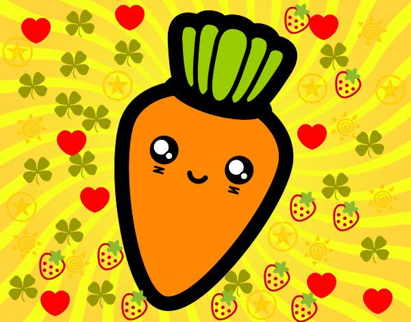 Dibujo de Zanahoria sonriente pintado por Jhony301 en Dibujos.net ...