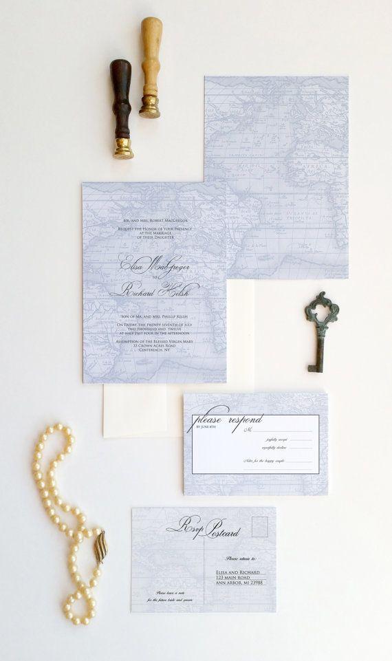 wedding invitations map%0A Travel Wedding Invitation  Travel World Map Wedding Invitation   Destination wedding invitation  San Francisco