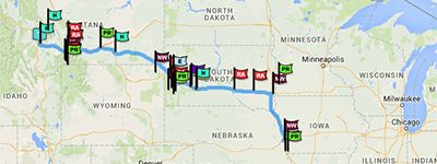 Use this website to plan out stops along a road trip.