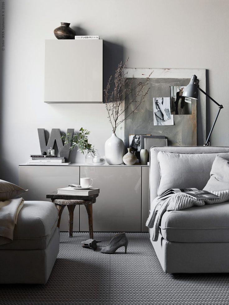 Ikea styling in grey tones
