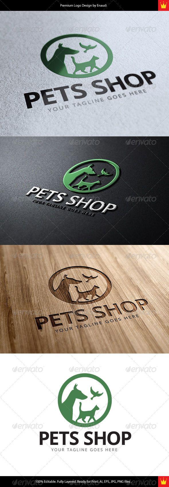 Pets Shop Logo — Vector EPS #branding #vetoerinary • Available here → https://graphicriver.net/item/pets-shop-logo/7864769?ref=pxcr