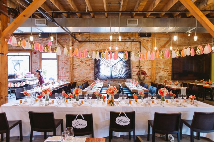 Head Table - Pink and Blush - Tassel Garland http://www.fusion-events.ca/