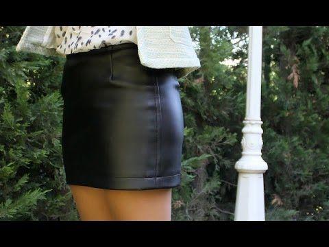 Como hacer una falda de cuero DIY - YouTube