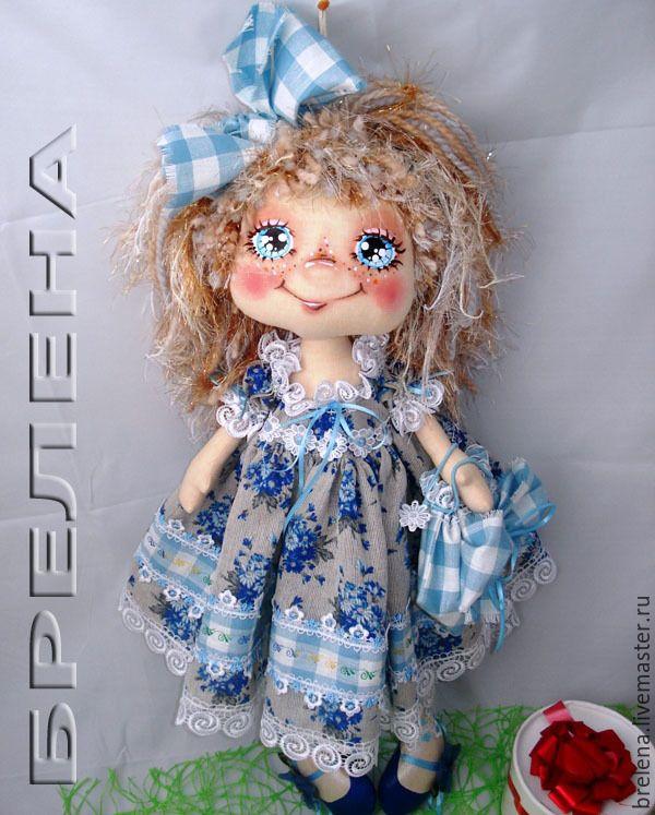 Купить Текстильная кукла Выпускница. - голубой, интерьерная кукла, подарок маме, подарок бабушке