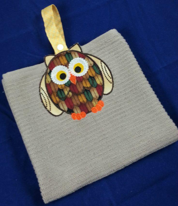 A Cute Owl Hand Towel. Find it at www.madeit.com.au/bluewrencottage