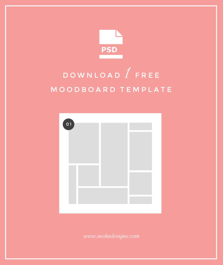Download Your Freebie Creating moodboards is an essential part of my design process as a graphic designer, andit's also super fun! It can be pretty tedious trying to create a moodboard in Ph...