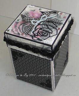 Cartes artisanales et autres projets artistiques de Liz: Une autre boîte à explosion!