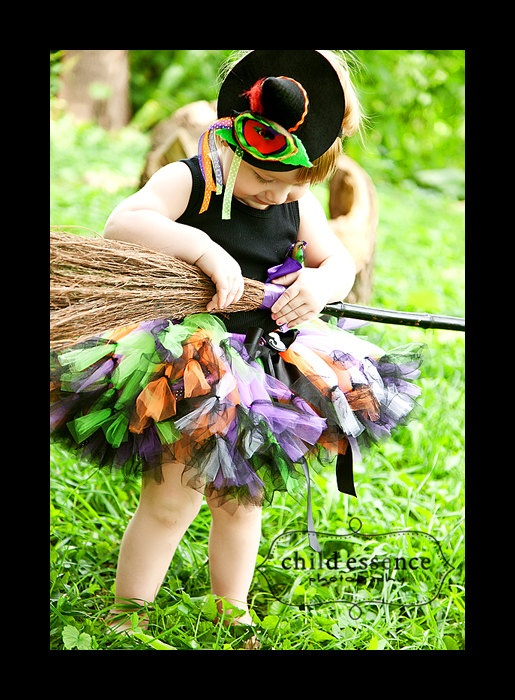 Witch Costume, Tutu, Baby Witch Costume, Toddler Witch Costume, Baby Witch Hat, Halloween Photo Props, Halloween Costumes. $59.95, via Etsy.