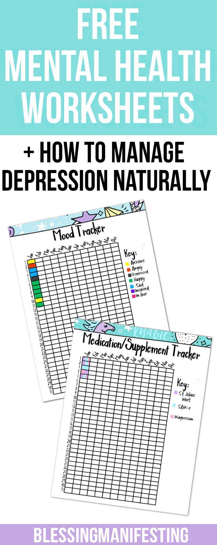 How to manage #depression naturally #Bulletjournaling #mentalhealth #mentalhealthtracker #mentalhealthworksheet