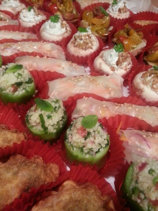 21 best images about veggie canapes on pinterest cherry for Vegetarian canape ideas