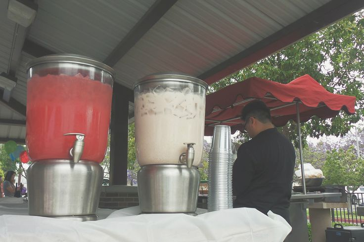 Refreshing aguas frescas, like our watermelon and horchata, are perfect in any weather.  More: http://www.sohotaco.com/2015/05/09/taco-catering-a-cerritos-park-east-birthday #tacocatering #lafoodies #cerritos #cpe