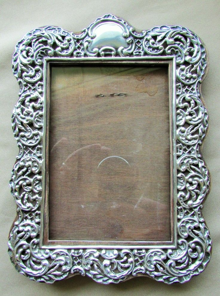 144 best antique silver picture frames images on pinterest. Black Bedroom Furniture Sets. Home Design Ideas