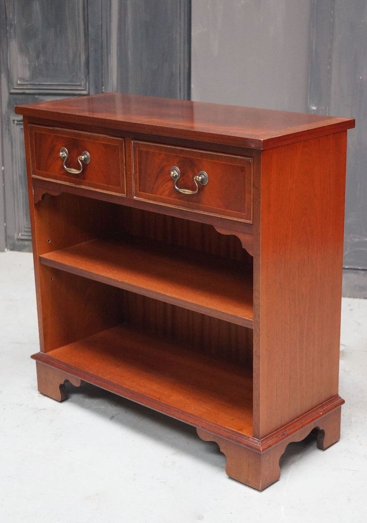 Mahogany Bookcase. Drawers. Side Table - We Can Deliver   eBay