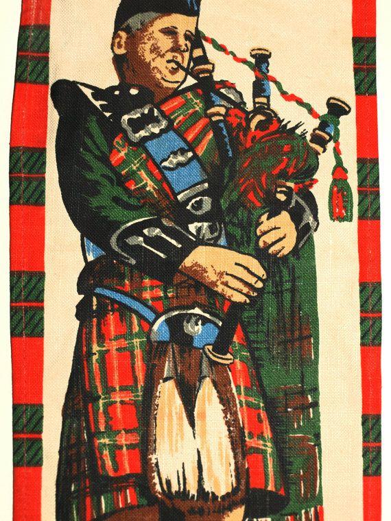 Vintage Scotland Westering Home Poem Lyrics Wall by FunkyKoala
