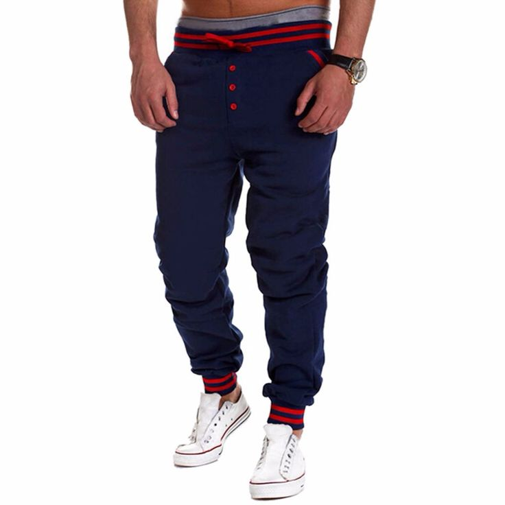 Find More Running Pants Information about Men Baggy HipHop Dance Jogger Sport Harem Sweat Single Breasted Pants Slacks Trousers,High Quality pants punk,China pants scarf Suppliers, Cheap trouser braces from Silvercell Store on Aliexpress.com