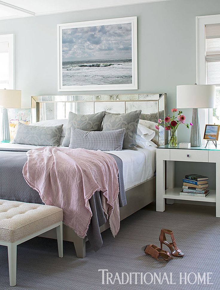 Nantucket Home with a Quiet Palette | Traditional Home. Take the tour here:  http  Beach House DecorBeach HousesBeach Cottage BedroomsCoastal ...