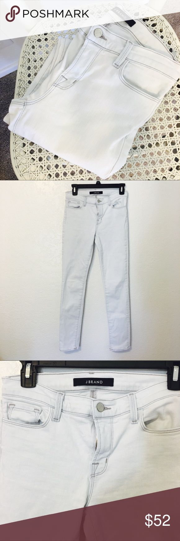 "J BRAND Mid Rise Rail in Frostbite So cute! Light wash ""frostbite"" jeans by J brand. Excellent condition size 27. J Brand Jeans"