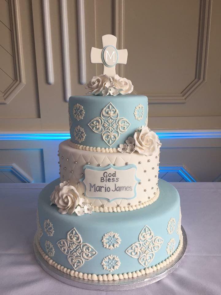 Baptism Cake #baby#boy